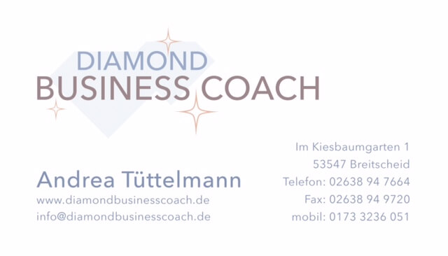 Diamond Business Coach Visitenkarte